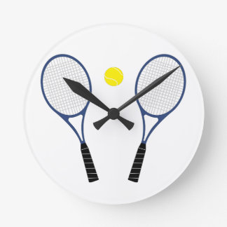 Reloj de las estafas de tenis y de pared de la bol