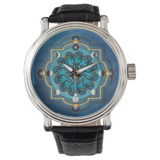 Reloj de las fases de la luna de la mandala