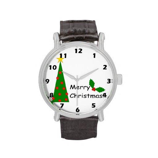 Reloj de las Felices Navidad