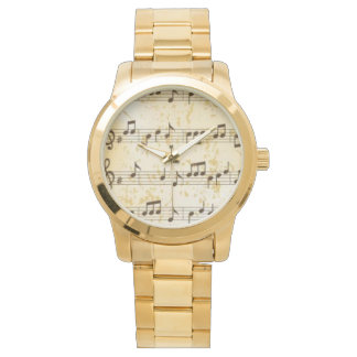 Reloj de las notas de la música