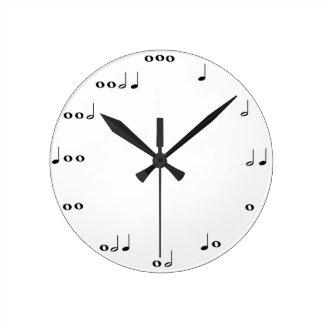 Reloj de las notas musicales
