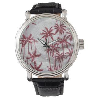 reloj de las palmeras del vintage