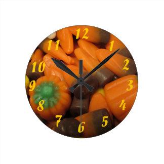 Reloj de las pastillas de caramelo del otoño