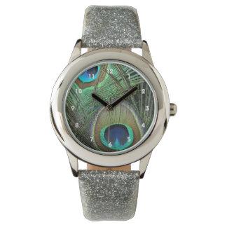 Reloj de las plumas del pavo real