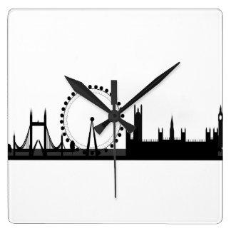 Reloj de Londres del negro y del blanco de imagen