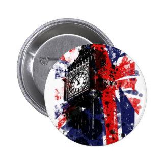 Reloj de Londres Pin Redondo De 2 Pulgadas