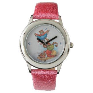 Reloj de los acróbatas del gato de Louis Wain -