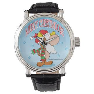 Reloj de los alces del navidad del dibujo animado
