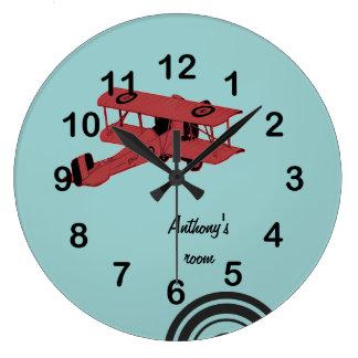 Reloj de los biplanos del vintage