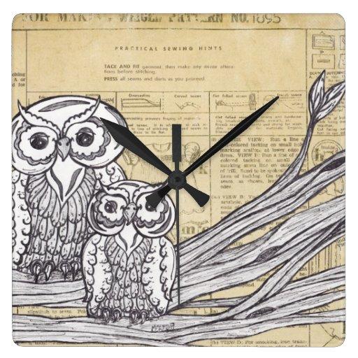 Reloj de los búhos 45
