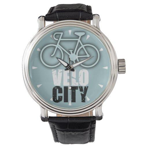 Reloj de los ciclistas de la velocidad