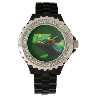 Reloj de los colores del arco iris del lagarto del