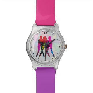 Reloj de los colores del extracto de la gente del