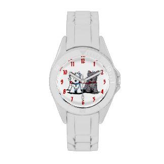 Reloj de los compinches de Terrier que camina
