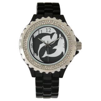 Reloj de los delfínes de Yin Yang