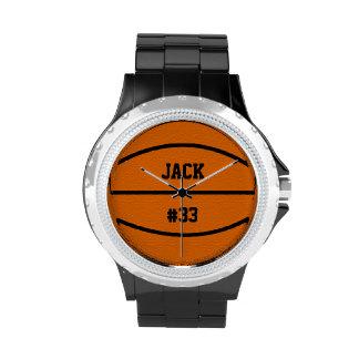 Reloj de los deportes del baloncesto