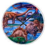 Reloj de los dinosaurios