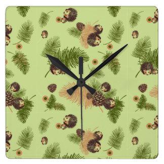 Reloj de los erizos del bosque