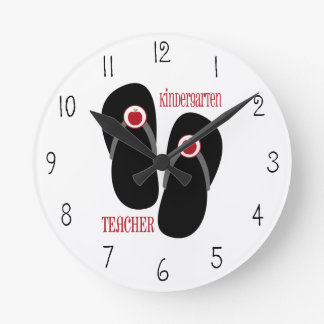 Reloj de los flips-flopes del maestro de jardín de