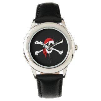 Reloj de los niños/cráneo clásicos del pirata