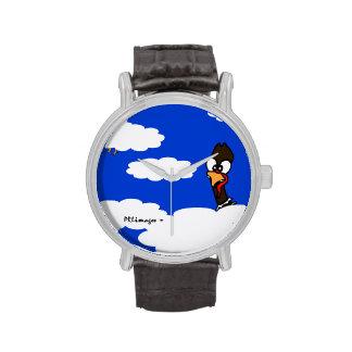 Reloj de los pavos en vuelo