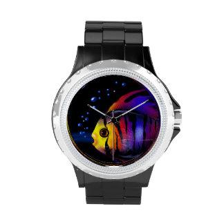 Reloj de los pescados de arco iris