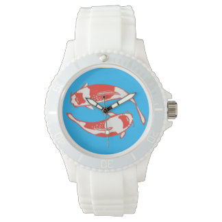 Reloj de los pescados de Koi