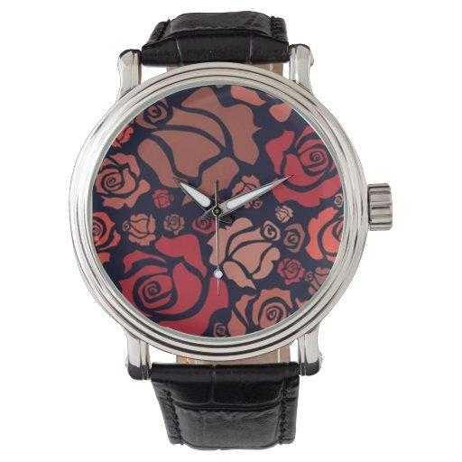 Reloj de los rosas rojos