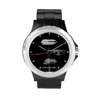 reloj de los vehículos espaciales por el