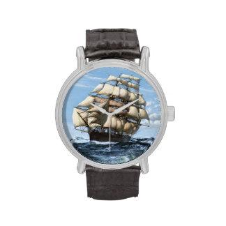 Reloj de los veleros del vintage