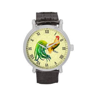 Reloj de lujo del gallo de Phoenix de las aves de