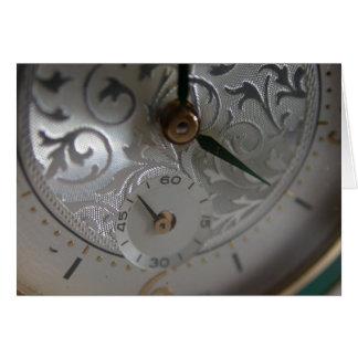 Reloj de lujo macro del suizo, tiempo tarjeta de felicitación