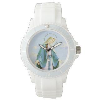 Reloj de luna creciente del Virgen María
