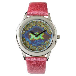 Reloj de luna triple artístico