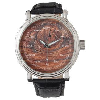 Reloj de madera de la textura del nodo (modelos