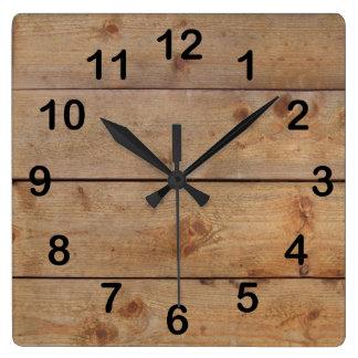 """""""Reloj de madera """" Reloj Cuadrado"""