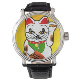 Reloj de Maneki Neko del japonés