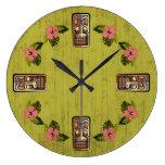Reloj de medianera de Tiki