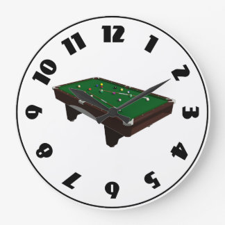 Reloj de mesa de billar