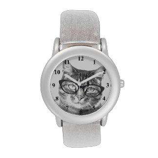 Reloj de moda del gato para las mujeres