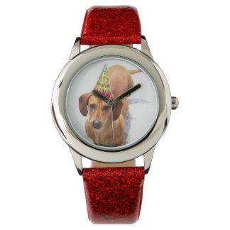 Reloj de moda del perro del perro de patas muy