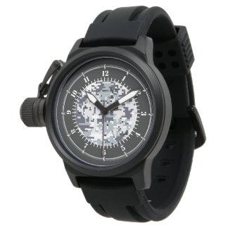 Reloj de moda gris del camuflaje de Digitaces del