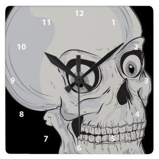 Reloj de mueca asustadizo del cráneo