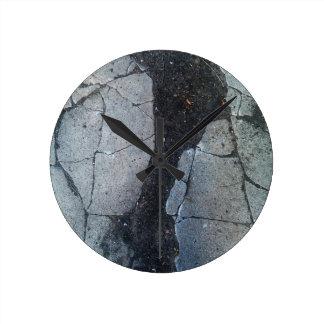 Reloj de muro de cemento