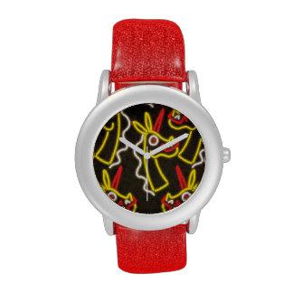 Reloj de neón del unicornio