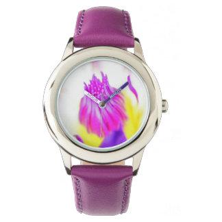 Reloj de niño rosa de lago