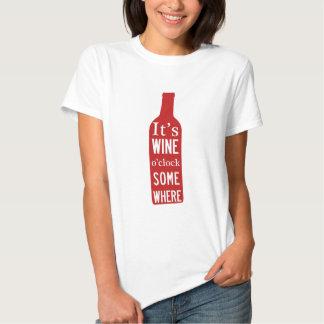 Reloj de o de su vino 'en alguna parte playeras