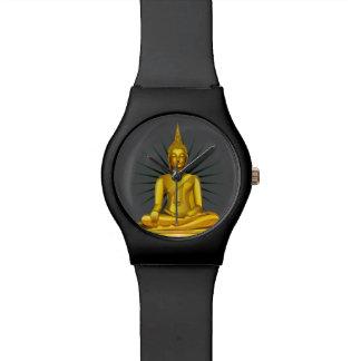Reloj de oro de Buda