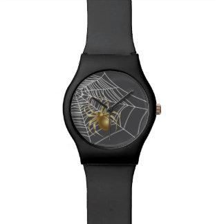 Reloj de oro de la araña