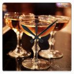 reloj de oro de la barra de la cocina de la bebida
